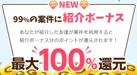 ゲットマネー新友達紹介制度